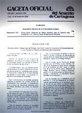 Gaceta Oficial del Acuerdo deCartagena