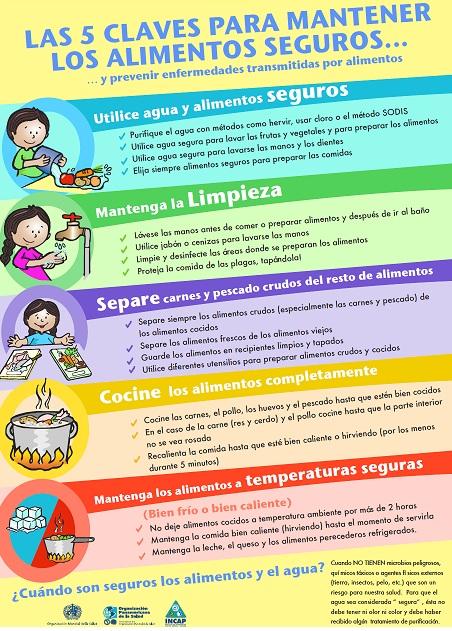 Las 5 claves para mantener los alimentos seguros notas for Higiene y manipulacion de alimentos pdf